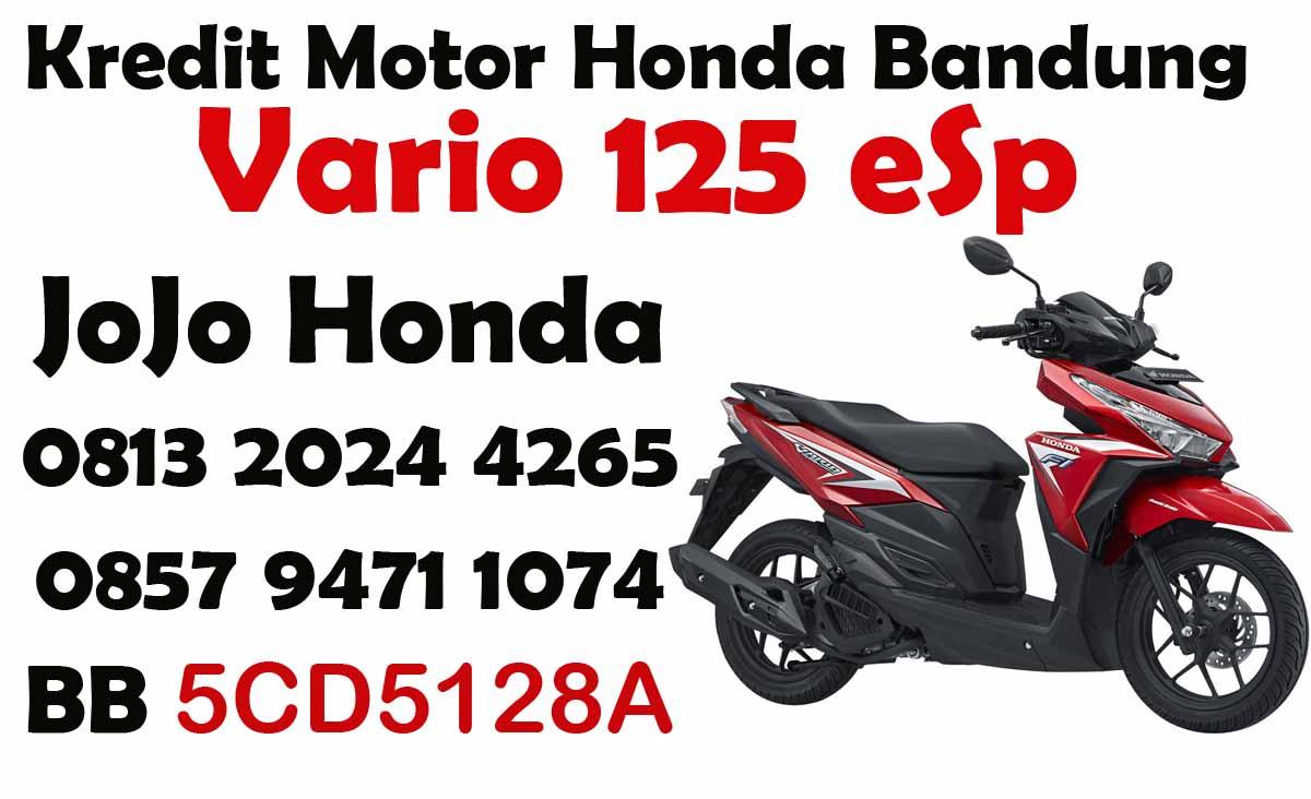 Kredit Motor Honda Vario 125 Esp Cbs Iss New Advance Red Jakarta Cw Bandung Dealer